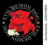 devil bulldog killer with skull | Shutterstock .eps vector #226924843