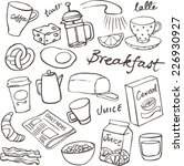 breakfast food and icons doodle ... | Shutterstock .eps vector #226930927