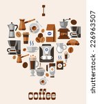 love coffee concept with...   Shutterstock .eps vector #226963507