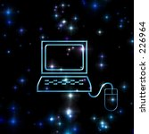 computer space .check out my... | Shutterstock . vector #226964