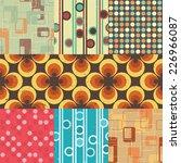 seamless retro inspired... | Shutterstock .eps vector #226966087