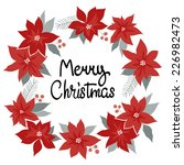 merry christmas card. vector... | Shutterstock .eps vector #226982473