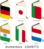 translation books  vector .... | Shutterstock .eps vector #22698772