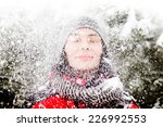 beautiful winter portrait of... | Shutterstock . vector #226992553