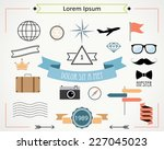 vintage signs  logos  and... | Shutterstock .eps vector #227045023