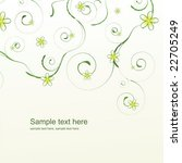abstract floral background with ...   Shutterstock .eps vector #22705249