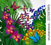 floral design background.... | Shutterstock . vector #227057893