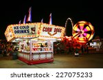 food stand at a carnival at... | Shutterstock . vector #227075233