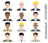 business man avatar  vector... | Shutterstock .eps vector #227105383