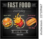 fast food menu   vector... | Shutterstock .eps vector #227109667