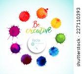 vector rainbow watercolor blobs....