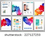 set of vector poster templates... | Shutterstock .eps vector #227127253