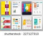 set of flyer  brochure design... | Shutterstock .eps vector #227127313