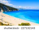 View Of Beautiful Myrtos Bay...