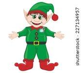 vector new year's elf santa's... | Shutterstock .eps vector #227134957