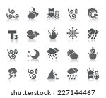 weather icons | Shutterstock .eps vector #227144467