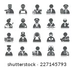 occupation icons | Shutterstock .eps vector #227145793