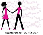 two lovers | Shutterstock .eps vector #22715707