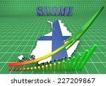 3d map illustratin of finland... | Shutterstock . vector #227209867