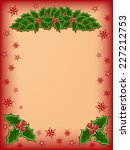 merry christmas card with red... | Shutterstock .eps vector #227212753