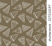 pizza pieces painted in graphic ... | Shutterstock .eps vector #227213197