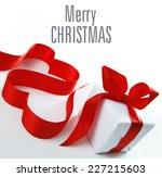 christmas gift  red present | Shutterstock . vector #227215603