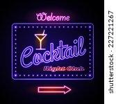 Neon Sign. Cocktail Bar