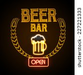 neon sign. beer bar | Shutterstock .eps vector #227221333