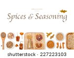 spices and seasoning on white... | Shutterstock . vector #227223103