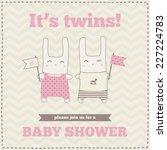 baby shower invitation ... | Shutterstock .eps vector #227224783