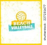 beach volleyball bright vector... | Shutterstock .eps vector #227231677