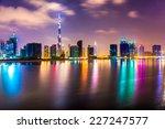 Dubai Skyline At Dusk  Uae.