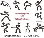 summer sports icons    set of... | Shutterstock . vector #227254543