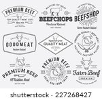 vector quality beef badges and... | Shutterstock .eps vector #227268427