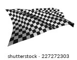 checkered flags  racing flags ... | Shutterstock . vector #227272303