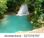 Blue Hole Falls  Jamaica ...