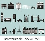 silhouettes of famous cities....