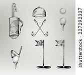 golf. vintage golf. vector...   Shutterstock .eps vector #227292337