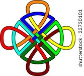 Multi Colored Celtic Knot In...