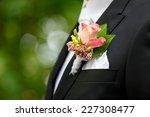 Flower On Husband Suit