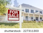 home for sale real estate sign... | Shutterstock . vector #227311303