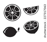 collection of lemons  icons set ... | Shutterstock .eps vector #227317063