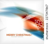 orange color christmas blurred... | Shutterstock .eps vector #227347867