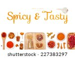 spicy and tasty  spices and... | Shutterstock . vector #227383297