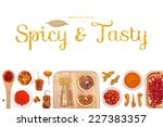 spicy and tasty  spices and... | Shutterstock . vector #227383357