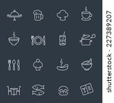 restaurant and food icon set ... | Shutterstock .eps vector #227389207