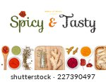 spicy and tasty  spices and... | Shutterstock . vector #227390497