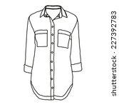 vector abstract shirt outline | Shutterstock .eps vector #227392783