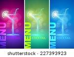 cocktail party design menu... | Shutterstock .eps vector #227393923