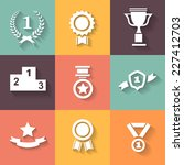 set of white  award  success... | Shutterstock . vector #227412703